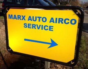 auto airco marx bord met pijl